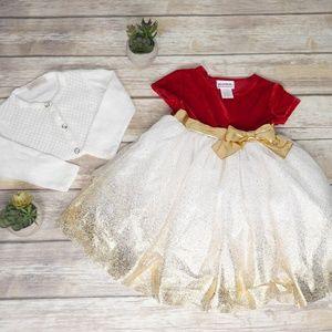 Bluberi Boulevard Toddler Girl Dress & Cardigan 2T